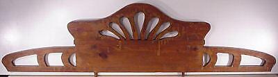 Jugenstil  Arts & Crafts Hand Carved Wood Crown Topper Mantel Molding Antiques 10