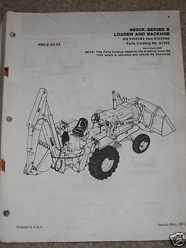 Case 680CK Series B Loader/Backhoe Tractor Parts Manual
