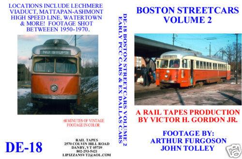 DVD: Boston Streetcars Volume 2:Early PCC & Dallas Cars Trolley
