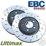 EBC ULTIMAX GROOVED REAR BRAKE DISCS MAZDA RX8 ROTARY