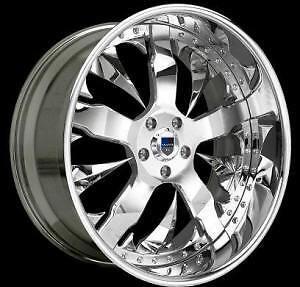 AF114 AF 114 Chrome Multi 2 Piece Rims Wheels Tires Package