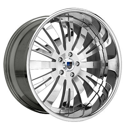 AF113 AF 113 Chrome Multi 2 Piece Rims Wheels Tires Package