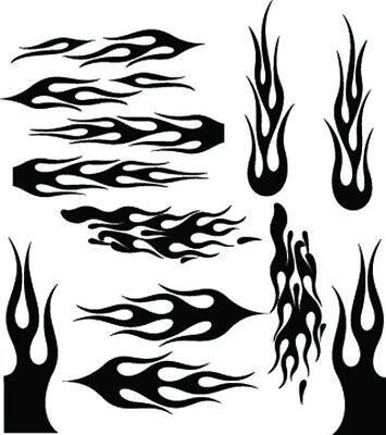RC airbrush stencils/ paint masks flame set 3 (SINGLE USE (Fire Paint Set)