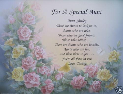 Special Aunt Poems Quotes. QuotesGram