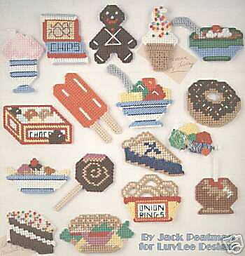 Junk Food Fridge Magnets Cross Stitch Chart/Pattern   21 Designs